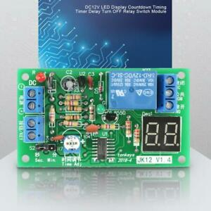 Dc 12v Led Display Countdown Timing Timer Delay Turn Off Relay Switch Module Us