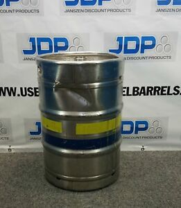 15 5 Gallon Stainless Steel Keg Used Sanke Half Barrel With Cosmetic Dent