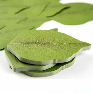 New 20p Green Leaf Note Paper Notebook Marker Green Protection Of The Transport