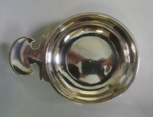 Antique French Provincial Sterling Silver Wine Taster Cup Tastevin