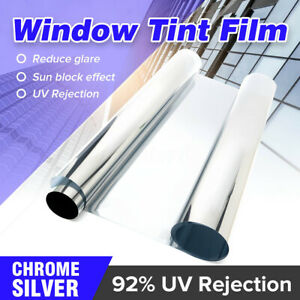 30 X118 Chrome Silver One Way Mirror Privacy Glass Window Tint Film Car Home