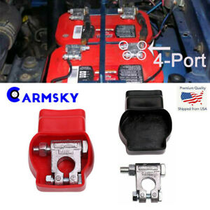 Universal Car Military Style Battery Terminal Top Post Kit And With Covers