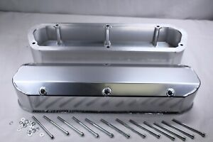 Sbf Ford 289 302 351w Fabricated Long Bolt Polished Aluminum Valve Cover V8