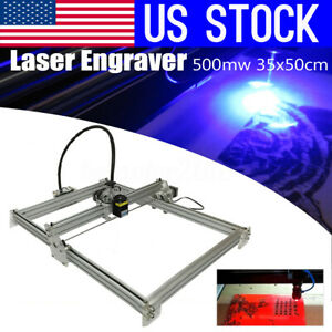 Us 500mw 35x50cm Diy Mini Laser Engraving Marking Machine Engraver Diy Printer