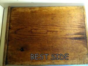 Large 19x26 Antique Cutting Work Board W Offset Ends Made From Single Board
