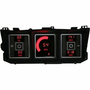 Intellitronix Dp1010r Led Digital Dash Kit 1973 1979 Ford Truck Red Includes Sp