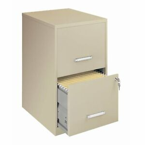 Locking 2 drawer Vertical File Cabinet In Putty Color