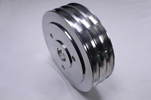 Bb Chevy Aluminum Crankshaft Pulley 3 Groove Swp Short Water Pump Bbc 454