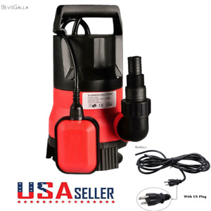 8000l h 5m Electric Submersible Pump Clean Dirty Flood Water Swimming Pool Red