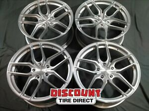 4 Used 19x8 5 Et15 5 120 Stance Sf03 Machined Silver Wheels rims