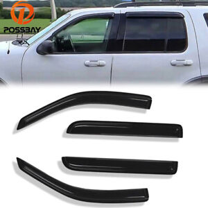 Fit For 2002 2010 Ford Explorer 4 Door Window Visor Wind Trim Set Style Door