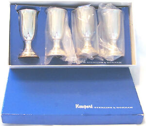 4 Whiting 3 5 Gorham Cordial Sterling Silver Cups 23g Ea Marked Box Vintage 925