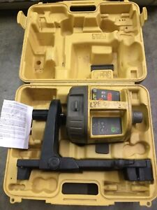 Topcon Rl vh3d H v Red Rotary Laser Level With Scan Card Clamp 86
