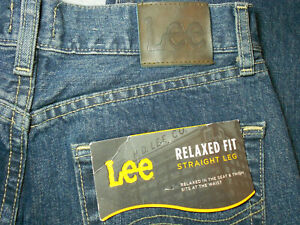 NEW LEE 30 x 32 jeans blue RELAXED FIT 100% COTTON straight leg men#x27;s mens NWT $23.99