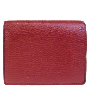 Authentic Burberry Logo Wallet Coin Card Case Nova Check Leather Red 03be383