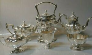 7 Piece Set 1909 Whiting Manufacturing Co Sterling Silver Tea Coffee Set