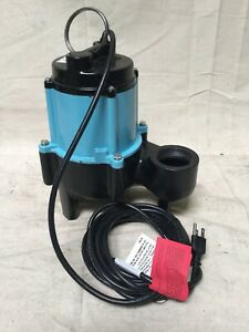 Little Giant 10sn cim 1 2 Hp Manual Submersible Sewage Pump 115 Voltage 80 Gpm