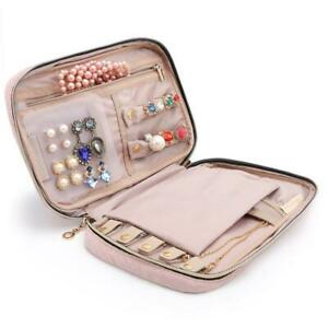 Bagsmart Travel Jewellery Organizer Case Portable Jewelry Bag For Rings Pink