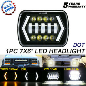 Newest Brightest 55w 7x6 5x7 Led Headlight Drl For Chevrolet Jeep Cherokee Xj
