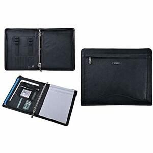 Padfolio Ring Binders Leather Portfolio Organizer With 3 ring For Letter Paper