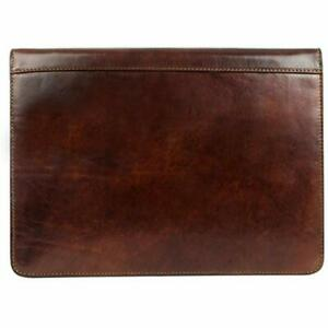 Carrying Cases Leather Portfolio Document Folder Handcrafted Dark Brown Time