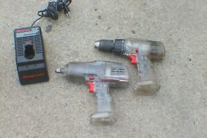 2pc Combo Clear Snap On 18v Cordless 1 2 Impact Wrench Spp851 Drill Spp850