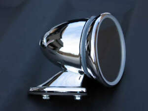 Bullet Style Chrome Fender Door Sports Mirror British Japanese