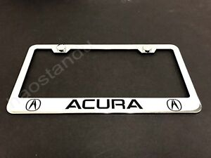 1xacura Stainless Steel License Plate Frame Screw Caps Ll 2003 2018