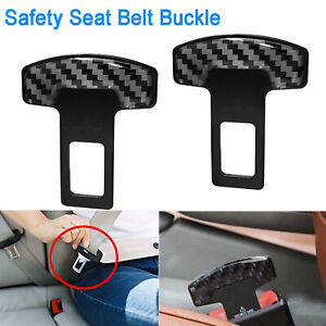 Carbon Fiber Safety Seat Belt Buckle Alarm Eliminator Clip Fix Error Code