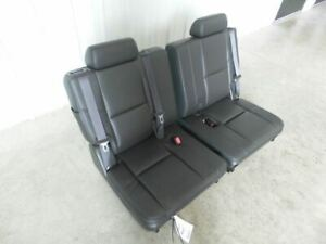 07 14 Yukon Denali Third Row Seat Black Leather Seats 2 Piece 492630
