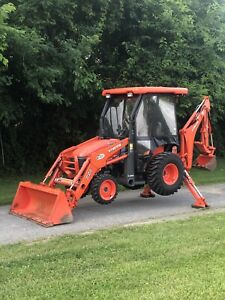 2014 Kubota B26 Hst 4x4 Compact Tractor Loader Backhoe Low Hours Clean Tlb
