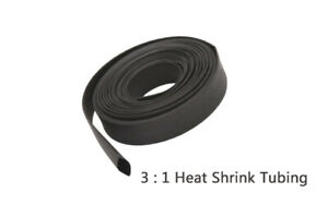 45ft Black 1 2 Diameter 3 1 Polyolefin Heat Shrink Tubing Cable Sleeve