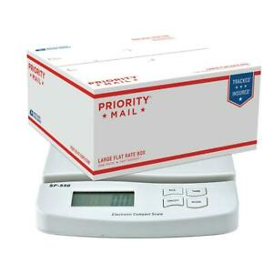 55lb X 0 1oz Digital Postal Shipping Scale Weight Postage Scale white 2xbattery