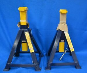 Hein Werner Hw93512 Heavy Duty Jack Stands 10 Ton Capacity Set Of 2