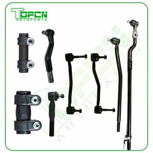 8pcs Front Tie Rod Ends Sway Bar Links For 2000 2005 Ford Excursion F 250 4wd