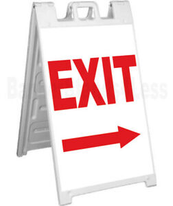 Exit Double Sided Sign A frame Sidewalk Pavement Signicade Sign
