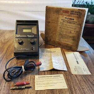 Vtg Vulcan Tools Digital Tach Dwell Volt Ohmmeter 986 Rare W Box Manual Works