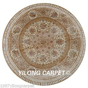 Yilong 7 2 X7 2 Oriental Silk Area Rug Handmade Round Carpets Hand Knotted 1613