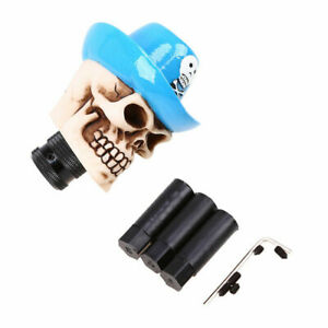 Cool Blue Human Skull 5 6 Sd Gear Stick Shift Knob Shifter Lever Universal Yb01