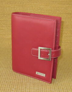Compact 1 25 Rings Red Sim Leather Franklin Covey Open Planner binder
