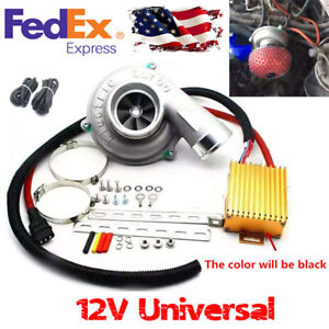 Car Electric Turbo Supercharger Kit Lifting Engine Power Reduce Fuel Consumption