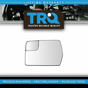 Trq Exterior Side View Door Mirror Glass Heated Power Lh For F 150 Pickup Truck