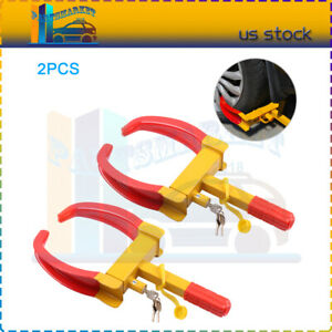 2pcs Universal Wheel Lock Clamp Boot Tire Claw Trailer Auto Car Truck Anti theft