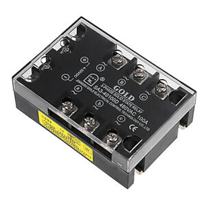 Sa340100d 4 32vdc To 480vac 100a Three Phase Solid State Relay Module Dc To Ac