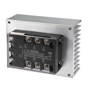 Dc 4 32v To Ac 40 480v 40a Three Phase Solid State Relay Module Dc To Ac