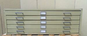 47 5 Drawer Metal Map Cabinet 47 Wide X 36 Deep X 16 Tall Sr621