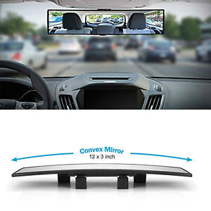 300mm Wide Curve Convex Clip On Rear View Mirror For Car Suv Van Truck