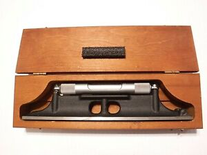 Starrett 98z 12 Machinists Level With Ground And Graduated Vial And Wood Case