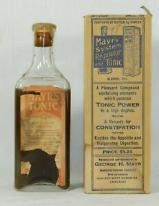 Mayr S Regulator Antique Medicine Bottle W Box Label Contents Cork Apothecary