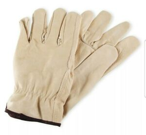 12 X Pairs Mens Cowhide Leather Work Gloves By Wells Lamont Y0135 L